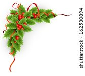 Vector Christmas Holly With...