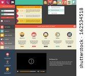 flat design   website template | Shutterstock .eps vector #162534518