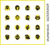 avatar icons set with spy ...