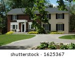 formal red brick house with... | Shutterstock . vector #1625367