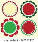 christmas and holiday scallop...   Shutterstock .eps vector #162537470