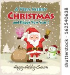 vintage christmas poster design ...   Shutterstock .eps vector #162540638