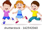 happy kid running | Shutterstock .eps vector #162542060