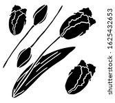 black tulip silhouette... | Shutterstock .eps vector #1625432653