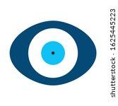 blue evil eye vector in oval... | Shutterstock .eps vector #1625445223