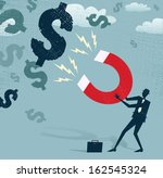 abstract businessman catches... | Shutterstock .eps vector #162545324