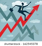 abstract businessman climbs the ... | Shutterstock .eps vector #162545378
