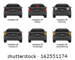 driver education  car rear... | Shutterstock .eps vector #162551174