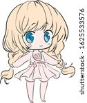 Blonde Chibi Girl Anime...
