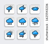 set of weather icon with trendy ...