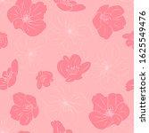 hand drawn cherry blossom... | Shutterstock .eps vector #1625549476
