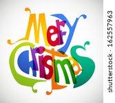 merry christmas   Shutterstock .eps vector #162557963