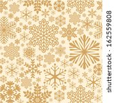 Golden Snowflake Seamless...