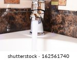 ceramic sink with chrome... | Shutterstock . vector #162561740