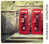 a pair of traditional british... | Shutterstock . vector #162562910