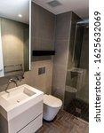 New Trendy Bathroom In An...