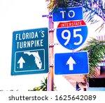 Florida Turnpike Green Metal...