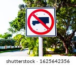 Metal Sign With A Truck And Red ...