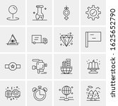 16 business universal icons...   Shutterstock .eps vector #1625652790