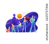 people are being in the park.... | Shutterstock .eps vector #1625727346