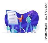 online survey  business people... | Shutterstock .eps vector #1625727520