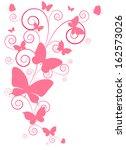 butterflies design | Shutterstock .eps vector #162573026