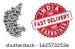 shipment mosaic karnataka state ... | Shutterstock .eps vector #1625732536