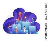 organizational chart corporate... | Shutterstock .eps vector #1625733100