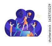 businessman and businesswoman... | Shutterstock .eps vector #1625733229