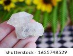 woman holding clear quartz ... | Shutterstock . vector #1625748529