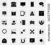 25 universal icons vector... | Shutterstock .eps vector #1625793100