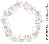 round vector frame with... | Shutterstock .eps vector #1625799760