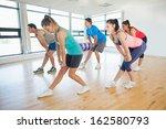 full length of fitness class... | Shutterstock . vector #162580793