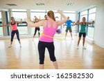 fitness class and instructor... | Shutterstock . vector #162582530