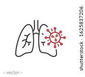 pneumonia bacterium icon  lungs ... | Shutterstock .eps vector #1625837206
