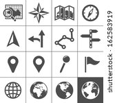 cartography and topography icon ...