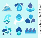 Water Drop Icons And Design...