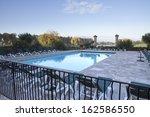 swimming pool in a villa ... | Shutterstock . vector #162586550
