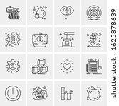 business icon set. 16 universal ... | Shutterstock .eps vector #1625878639