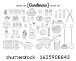 vector set with isolated... | Shutterstock .eps vector #1625908843