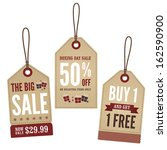 vintage retail tags | Shutterstock .eps vector #162590900