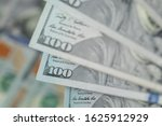 pile of one hundred us dollar... | Shutterstock . vector #1625912929