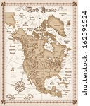 the vintage map of north... | Shutterstock .eps vector #162591524