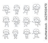 happy kid cartoon doodle vector ... | Shutterstock .eps vector #1625933470