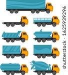 set of trucks on a white... | Shutterstock .eps vector #1625939296