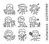 happy kid cartoon doodle vector ... | Shutterstock .eps vector #1625939989