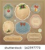 christmas vintage labels set....   Shutterstock .eps vector #162597773