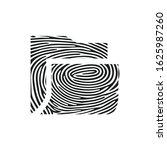 fingerprint folder icon....