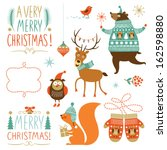 set of christmas graphic... | Shutterstock .eps vector #162598880