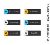 web buttons flat design. web...